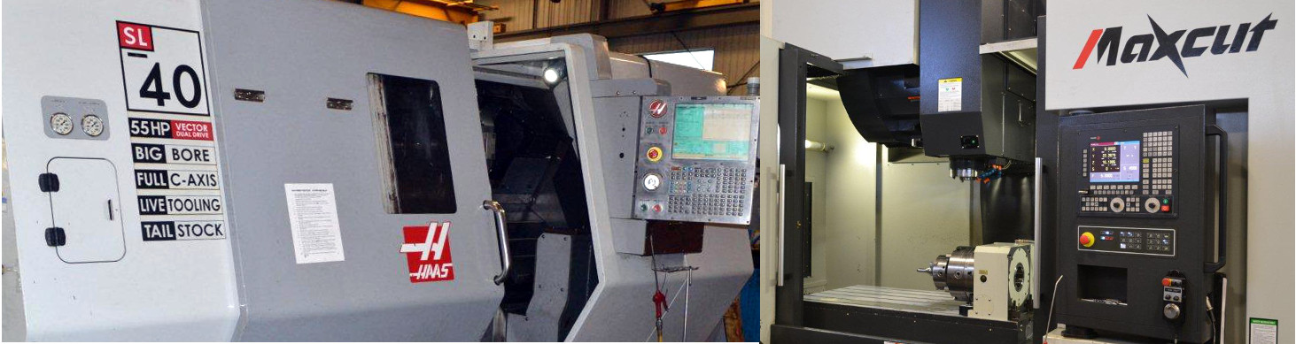 HAAS SL40 with Live Tooling / LEADWELL V-60i Machining Center